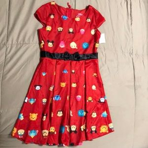 Disney tsum tsum dress. Fit and flare. NWT
